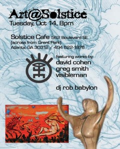 Art party at Solstice Cafe